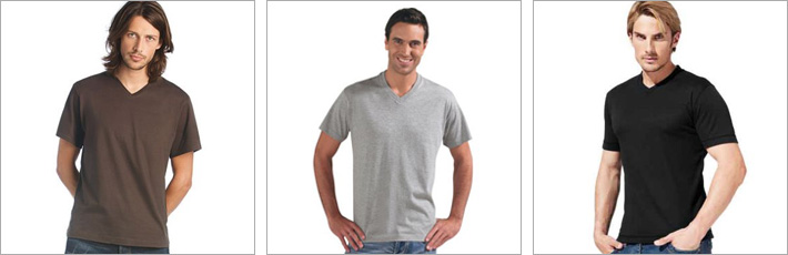 T-Shirts mit V-Neck